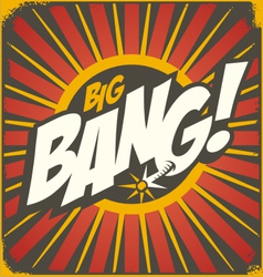 Big bang retro sign template vector image