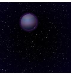 Cartoon Pluto in open space vector image vector image