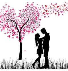 couple tree vector image vector image