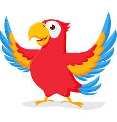 cute parrot cartoon vector image vector image