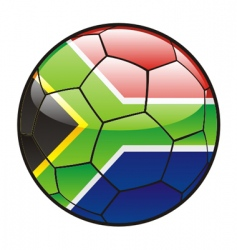 flag of south Africa on soccer ball vector image