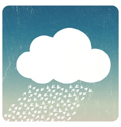 Grunge Cloud concept vector image vector image