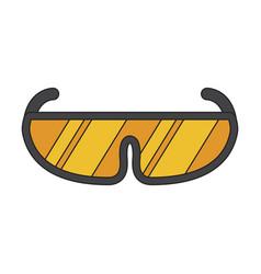 icon in flat design ski goggles vector image vector image