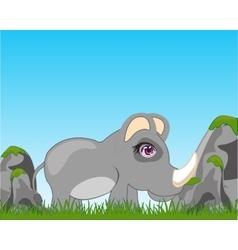 Rhinoceros on glade vector image vector image