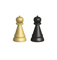 3d chess pieces on white background 3d chess vector image vector image