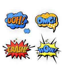 bubble speech for onomatopoeia and comic book vector image