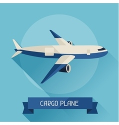 Cargo plane icon on background in flat design vector image vector image