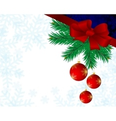 Christmas background with red balls vector image