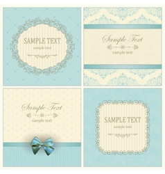 Invitation cards with pattern vector image