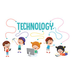 kids technology vector image