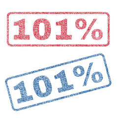 101 percent textile stamps vector image