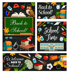 1st september back to school stationery vector image
