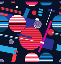 abstract bright geometric seamless pattern vector image