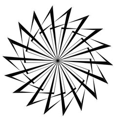 abstract circular geometric element with radial vector image