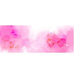 Abstract surface pink splash watercolor vector