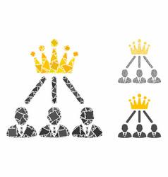 administration crown composition icon joggly vector image