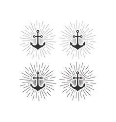 anchor logo boat sailing sea ship brand club vector image