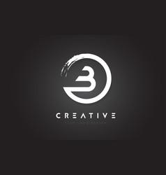 B circular letter logo with circle brush design vector