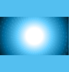 binary big data stream visualization blue tunnel vector image