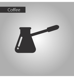 Black and white style coffee turk vector