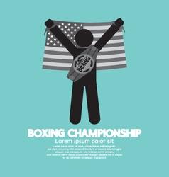 Black Symbol Boxing Championship vector