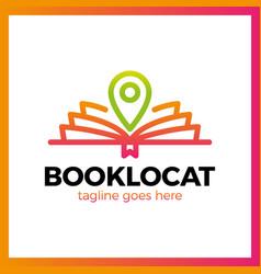 book location logo vector image