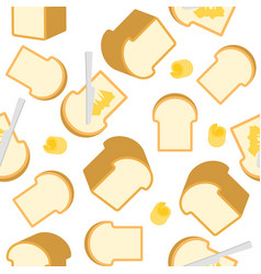 Bread and butter seamless pattern for wrapping vector