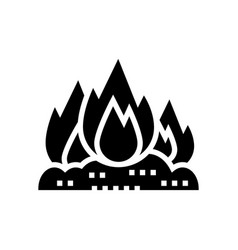Burning carbage glyph icon vector