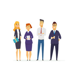 Business characters - modern flat composition vector
