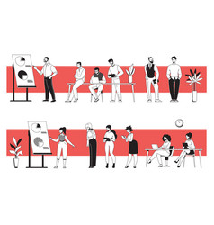 business people in office young diverse men and vector image