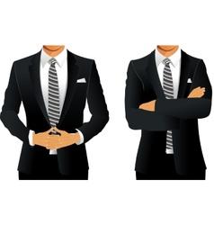 Business suit for men vector