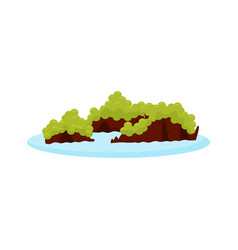 Cartoon of h long bay islands famous vector