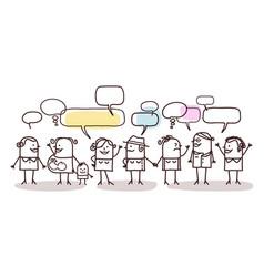 Cartoon women people and social network vector