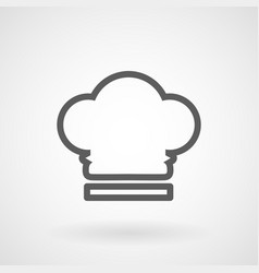 chef hat line icon on white background vector image