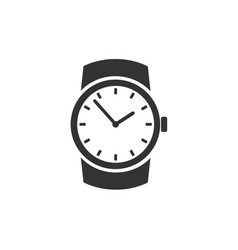 Classic wristwatch icon vector