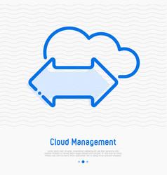 cloud management thin line icon vector image