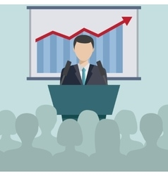 Concept for business conference and presentation vector image