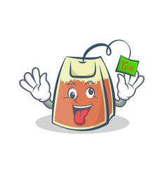 Crazy tea bag character cartoon vector