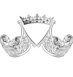 Crown heraldry composition vector