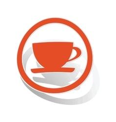 Cup sign sticker orange vector
