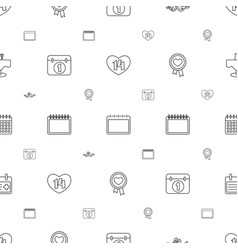 date icons pattern seamless white background vector image