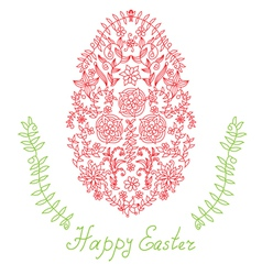 decorative easter egg vector image