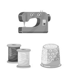 Design dressmaking and textile logo set vector