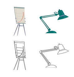 Design of furniture and work icon vector