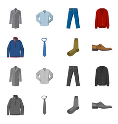 Design of man and clothing logo set of man vector