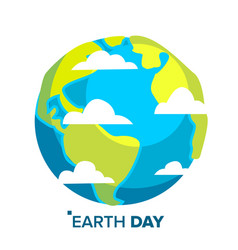 earth day concept whole earth sphere vector image