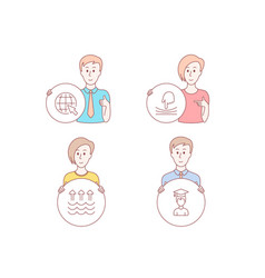 Evaporation internet and elastic icons student vector