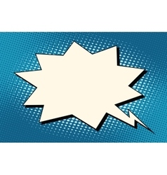 Explosion comics bubble on blue background vector image