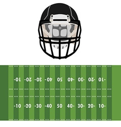Field and helmet vector image