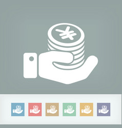 financial icon - yen vector image
